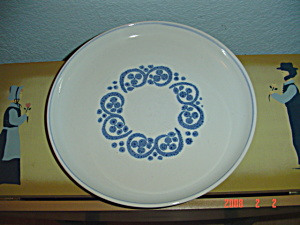Denby Rams Head English Blue Bread And Butter Plates