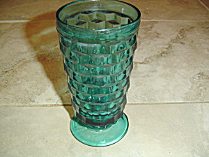 Whitehall Fostoria Americanteal Green Cube Iced Tea Glasses
