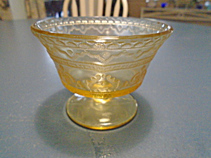 Federal Glass Patrician Champagne/tall Sherbet Glasses Antique