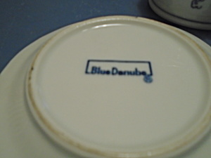 Lipper Mann Blue Danube Covered Jam/jelly Jar W/underplate