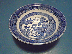 Churchill Blue Willow Serving Bowl