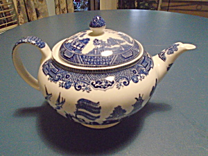 Johnson Bros Willow Tea Pot