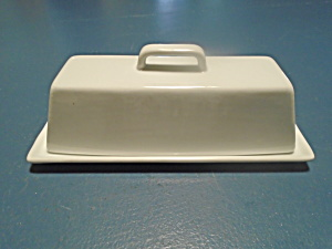 Coventry Simply White Covered Butter Dish