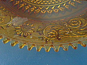 Indiana Glass Tiara Amber Sandwich Lunch Plates