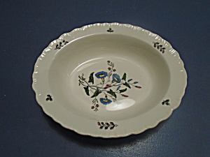Wedgwood Williamsburg Wild Flowers Oval Serving Bowl