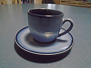 Sango Nova Blue Espresso Cup And Saucer Set