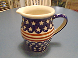 Boleslawiec Stars And Stripes Pitcher 6.75 In.