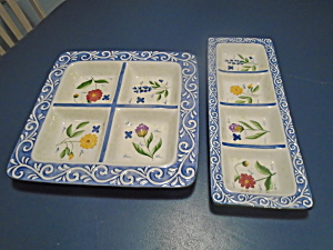 Cic Botanica Set Of 2 Platters New In The Box Great Gift