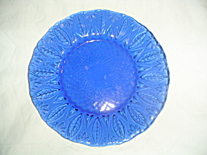 Avon Royal Sapphire Salad Plates Clear With Pattern