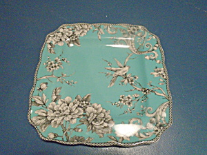 222 Fifth Adelaide Turquoise Square Dinner Plates