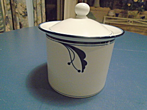 Dansk Flora Bayberry Blue Coffee Canister w/Cover (Image1)
