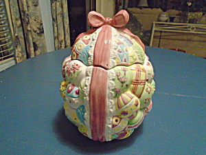 Easter Egg Ceramic Cookie Jar (Image1)