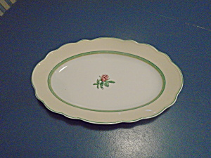 Wedgwood English Cottage Collection Cream Rose Oval Platter
