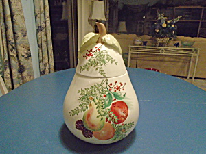 Lenox Williamsburg Boxwood And Pine Pear Cookie Jar