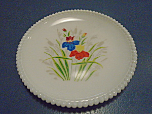 Westmoreland Beaded Edge Floral Salad Plates Style 1