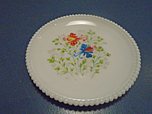 Westmoreland Beaded Edge Floral Salad Plates Style 3