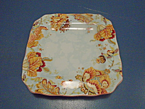 222 Fifth Square Dinner Plates Gabrielle Spring Blue