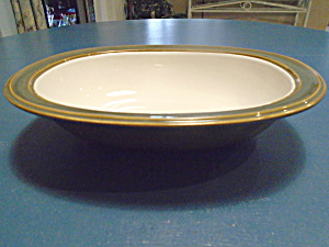 Dansk Green Sirocco Oval Serving Bowl