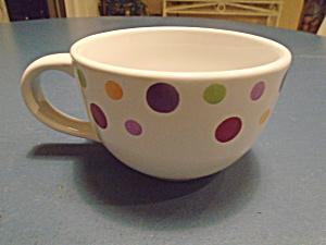 Pampered Chef Simple Additions Dots Soup Mugs