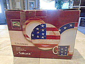 Sakura Warren Kimble Colonial Set Of 16 Pc. Nib