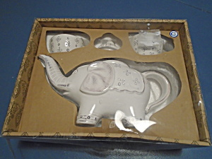 222 Fifth Caravan New In Box Teapot And 2 Cups Elephant