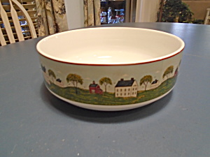 Sakura Country Life Round Serving Bowl