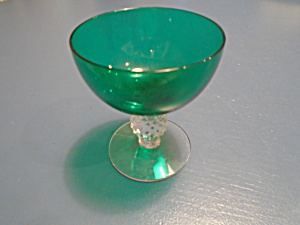 Morgantown Venetian Emerald Green Golf Ball Sherbets
