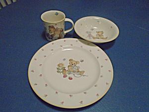 Mikasa TEDDY 3 Pc. Child's Dinnerware Set Mug, Plate, Bowl (Image1)