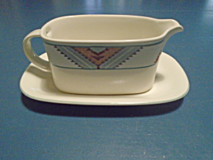 Mikasa Santa Fe Gravy Boat And Under Plate
