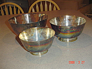 Reed And Barton Jamestown 3 Pc. Bowl Set