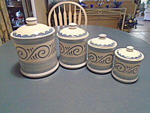 Corelle Oceanview Cannister Set Of 4 W/covers