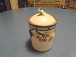 mikasa garden harvest sculpted tea canister - Mikasa Garden Harvest
