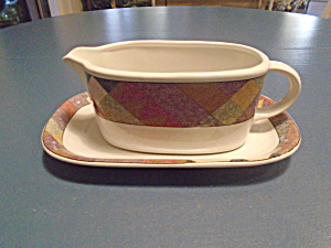 Mikasa Studio Nova Palm Desert Gravy Boat And Under Plate