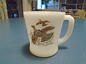Fire King Puffed Grouse Mug Vintage