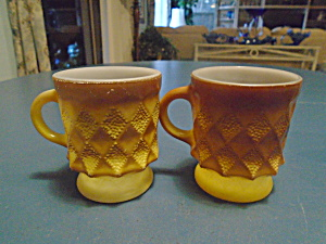Fire King Kimberly Mugs Set Of 2
