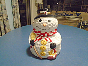 Mr. Snowman Cookie Jar