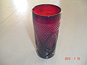 Luminarc France Red Iced Tea Tumblers Cris D'arques/durand Arty-red