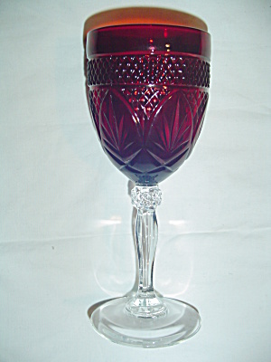 Luminarc France Red Goblets Cris D'arques/durand Arty-red