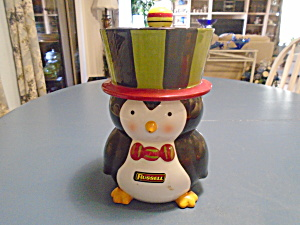 Russell The Penguin Ceramic Cookie Jar
