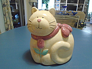 Fat and Fluffy Cat Ceramic Cookie Jar (Image1)