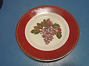 Raymond Waites Cornucopia Red Fruit Salad Plates
