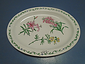 International Terrace Blossoms Oval Platter