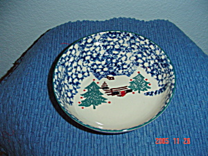 Tienshan Folk Craft Cabin In The Snow Cereal Bowls