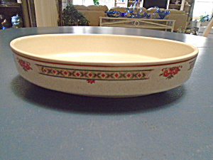 Vintage Lenox Temperware Coral Blossoms Oval Serving Bowl