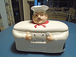 Casa Vera Chef Long And Narrow Cookie Jar Or Bread Holder