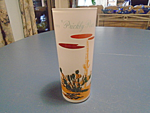 Blakely Frosted Arizona Iced Tea Glasses Prickly Pear Cactus