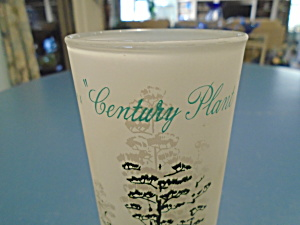 Blakely Frosted Arizona Iced Tea Glasses Century Plant Cactus
