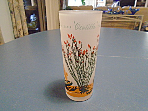 Blakely Frosted Arizona Iced Tea Glasses Ocotilla Cactus