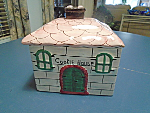 The Cookie House Stoneware Cookie Jar Made In Italy
