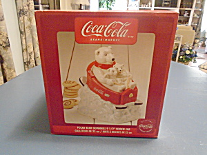 Coke Coca-cola Ceramic New In Box Polar Bears Sliding